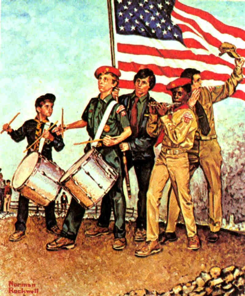 """""""The Spirit of 1976""""  Norman Rockwell, 1976."""