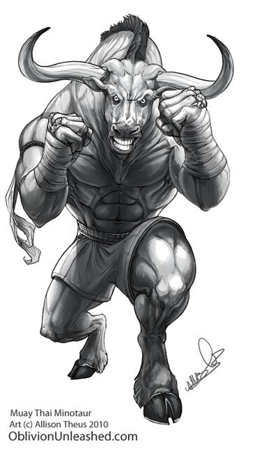 Minotaur Tattoo By Beastofoblivion Buull Taurus Tattoos Bull