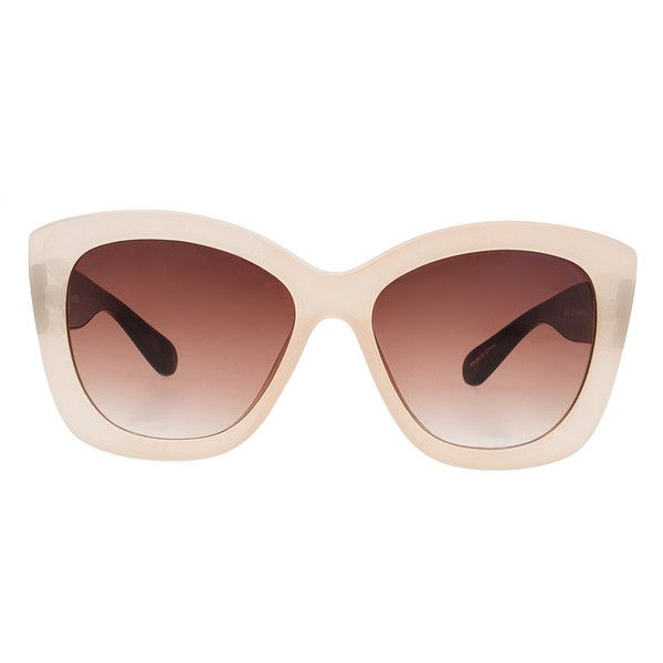 38d4f32cd11e ELOQUII Nude Statement Sunglasses ( 30) ❤ liked on Polyvore featuring  accessories