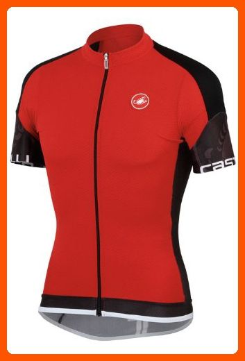 ad7399175 Castelli Entrata Full-Zip Jersey - ShortSleeve - Men s Red Black