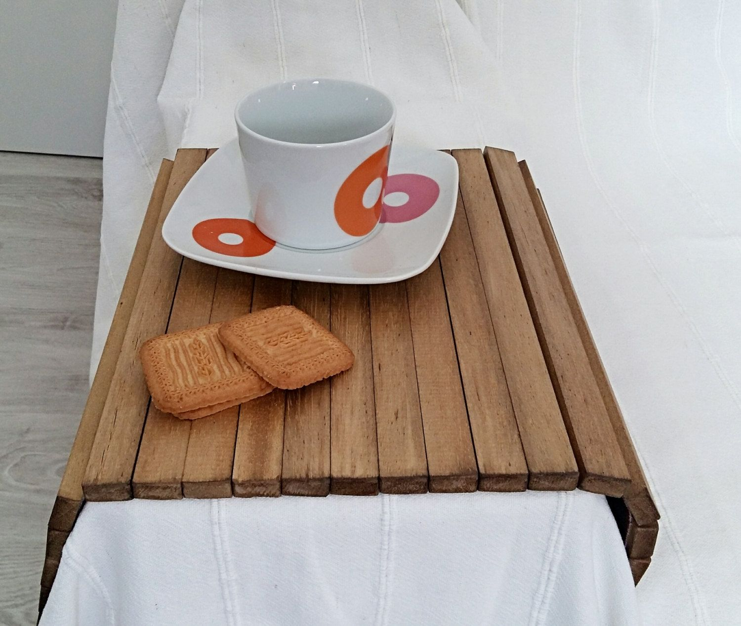 sofa arm tray wood outdoor wicker sectional sofas wooden coffee table flexible chair