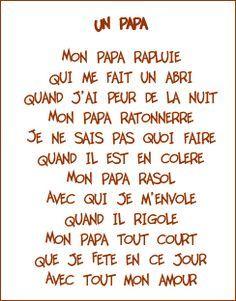 Poeme Papa Poème Pour Papa Fête Des Pères Et Poème Fête