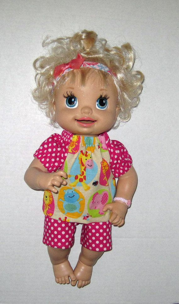 Super Snackin Sara Baby Alive Doll Clothes Zoo Animals