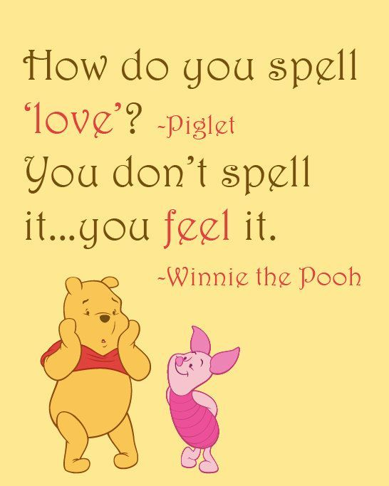 Winnie The Pooh Quotes Spell Love - Best Quote 2018