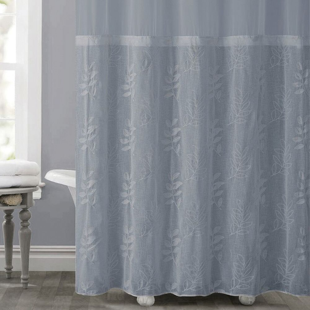 Hookless Palm Leaves Shower Curtain Liner Curtains Shower