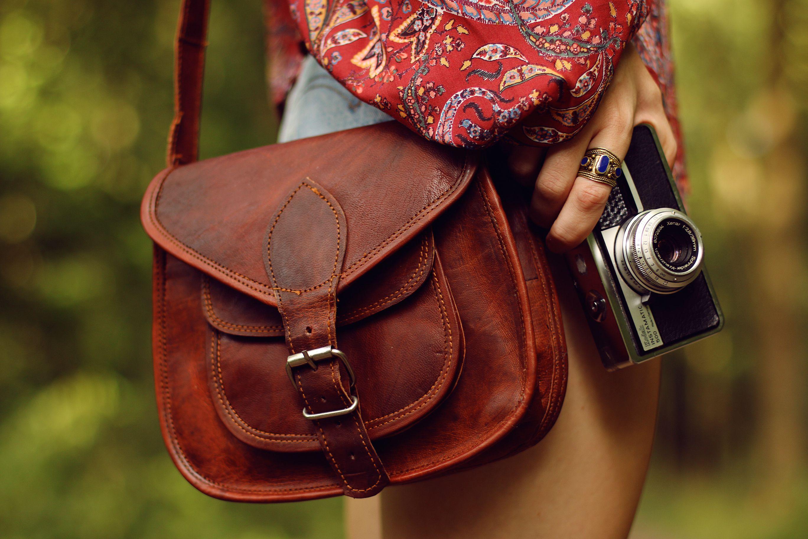 a5fee2a789d25 Vintage Ledertasche Handtasche boho Gusti Leder Damentasche Umhängetasche  Damen braun