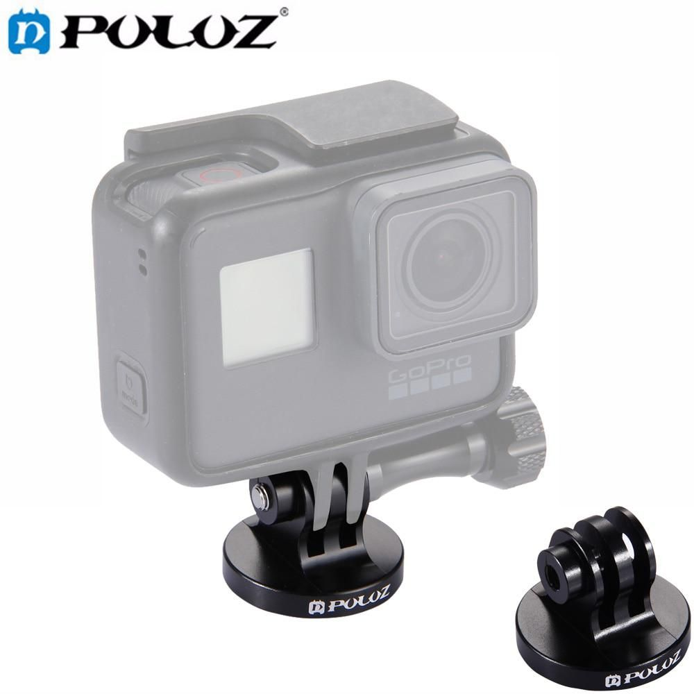 Puluz For Go Pro Accessories Tripod Mount Adapter For Hero7 6 5 5 Session 4 3 2 Dji Osmo Action Xiaoyi And Other Action Cameras Gopro Tripod Mount Sports Camera