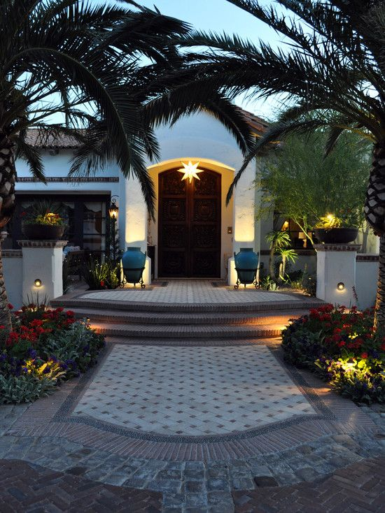 mediterranean exterior craftsman style decorating design pictures remodel decor and ideas page - Craftsman Garden Decor