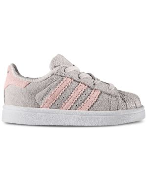 1c8d94dc0 adidas Toddler Girls' Superstar Casual Sneakers from Finish Line - Gray 10