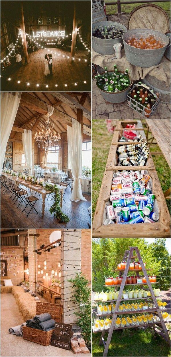 Country Rustic Barn Themed Wedding Decoration Ideas Countrywedding