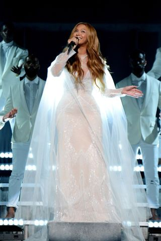 All the best stage costumes from the Grammys: Beyonce in Roberto Cavalli Atelier
