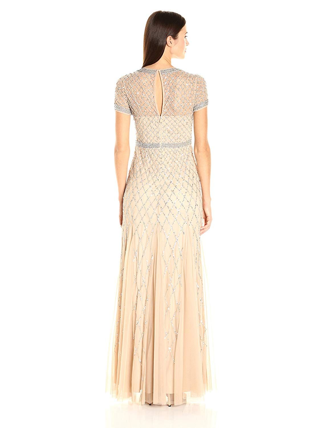 7b311072 Adrianna Papell Women's Short-Sleeve Beaded Mesh Gown 4.4 out of 5 stars 32  customer reviews Price: $270.00 - $320.00