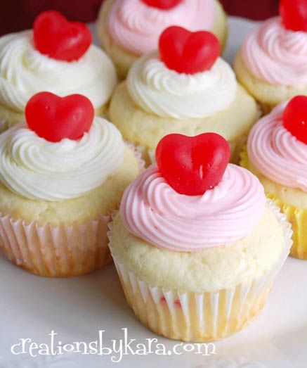 cherry cheesecake valentine's day cupcakes | it's a love, Ideas