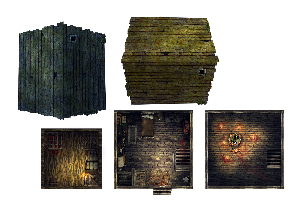 Hut Interior Home icon, Dungeon maps, Locations