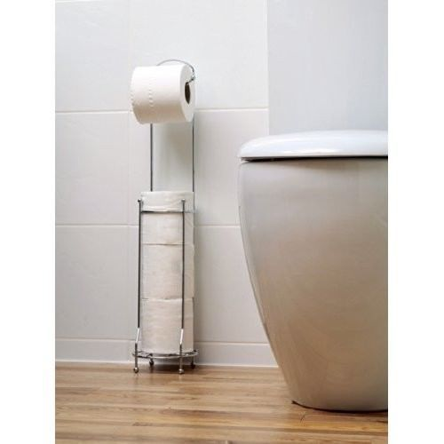Toilet · Toilet Paper Holder Chrome Free Standing Storage ...