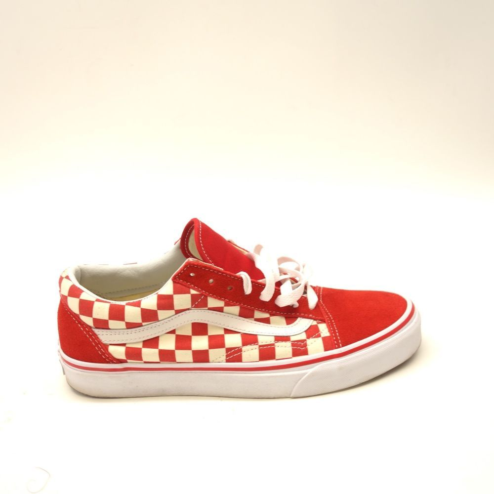 99ee0f8c60097a New Vans Mens Old Skool Red Checkerboard Lace Up Canvas Sneaker Shoes Size  9  VANS  SkateShoes