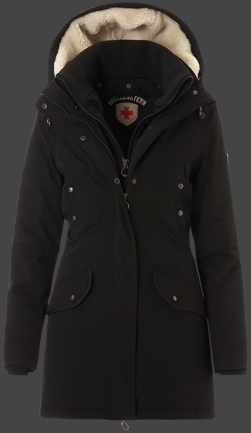 wellensteyn winterjacke damen dunkelblau