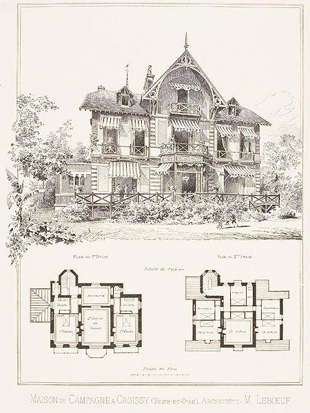 Planche contact Maisons de banlieue du XIXième siècle Pinterest - plan architecturale de maison