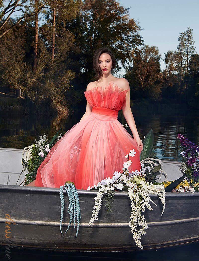 e3f07d36f1 Nicole Bakti 6928 Spring 2019 evening collection dress.