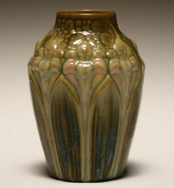 Brush mccoy amaryllis vase pottery and glass for Vase amaryllis