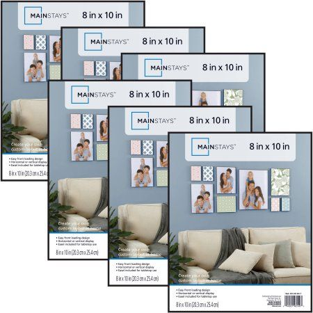 Free 2 Day Shipping On Qualified Orders Over 35 Buy Mainstays 8x10 Format Picture Frame Set Of 6 At Wa Picture Frame Wall 8x10 Picture Frames Picture Frames