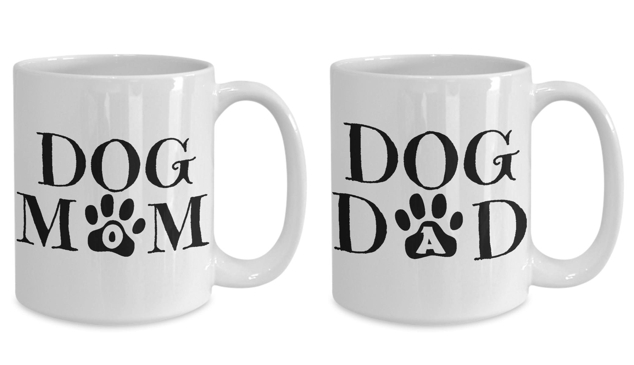 Dog Mom and Dad Matching Mug Set (With images) Mugs set