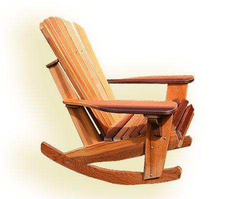 Cedar Adirondack Rocker Chair Kit Eco Furniture Sustainly Hand