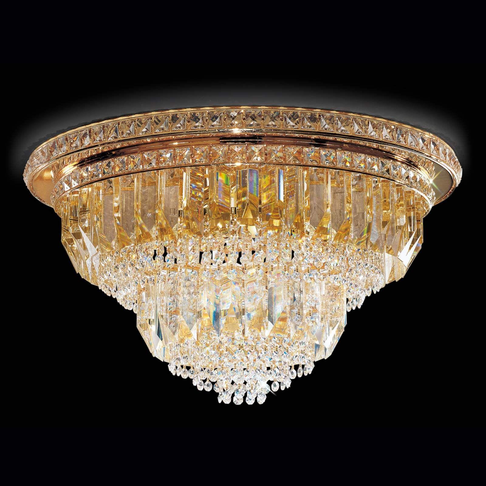 Deckenleuchte Cristalli, 60cm in Gold von PATRIZIA VOLPATO