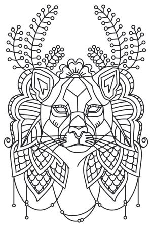 Anima - Cougar Urban Threads Unique and Awesome Embroidery - fresh mandala coloring pages on pinterest
