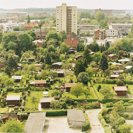 Today in Germany there are more than one million Schreber gardens (Schrebergärten), small, rented plots of land (200–400 sq meters) usually found on the outskirts of towns, used for growing fruits and vegetables or simply for relaxation.