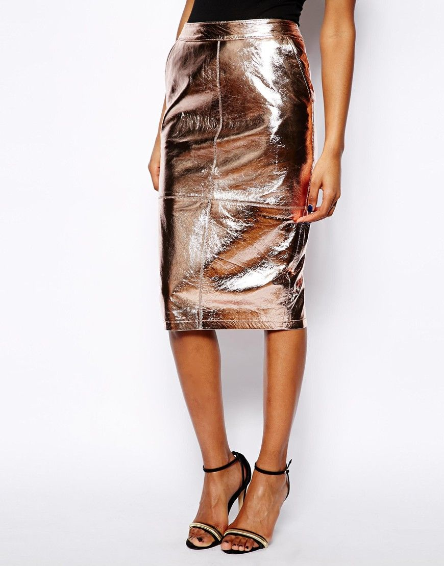 River Island High Waisted Leather Pencil Skirt | skirting the ...