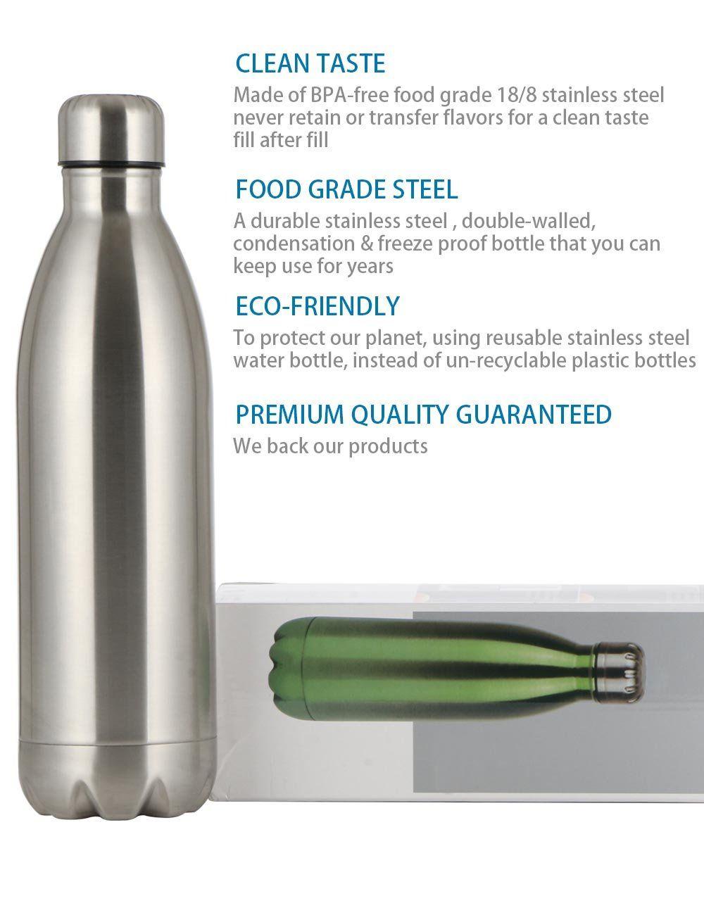 food grade stainless steel water bottle