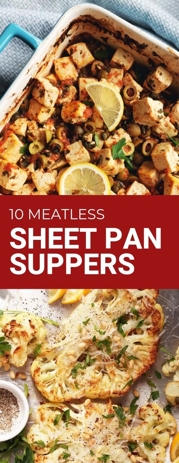 10 Meatless Sheet Pan Suppers - Bad to the Bowl