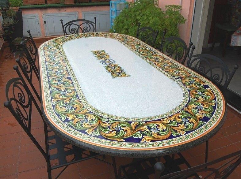 Tavoli in pietra lavica ceramizzata / TAVOLI OVALI - Siad Ceramiche ...