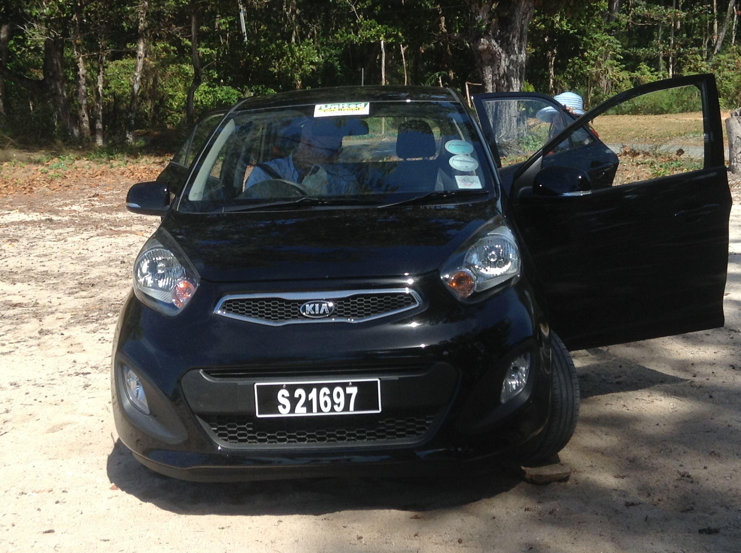 Little Picanto car Praslin Island