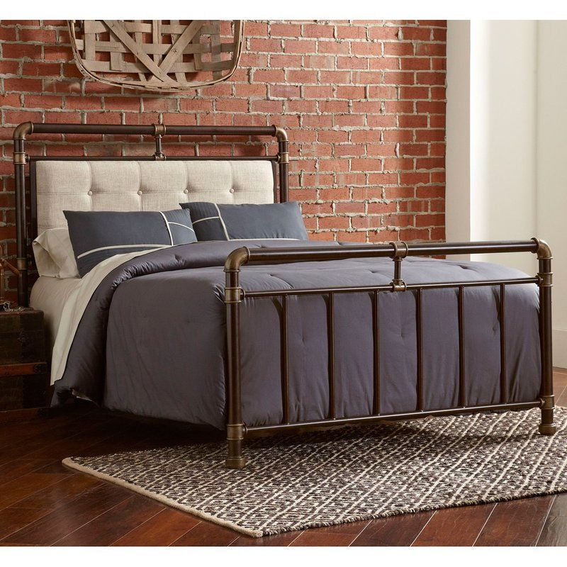 Adelange Queen Bed Platform Bed With Images Wrought Iron Beds Iron Bed Largo Furniture