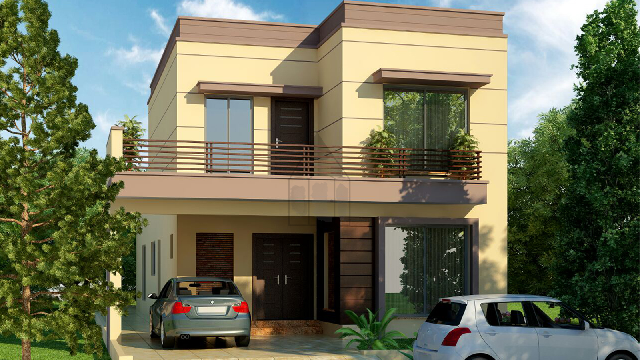 10 Marla House Plan Front Elevation With Complete Layout Plan Of Ground Floor And First Floor The Plot H House Front Elevation House Front 10 Marla House Plan