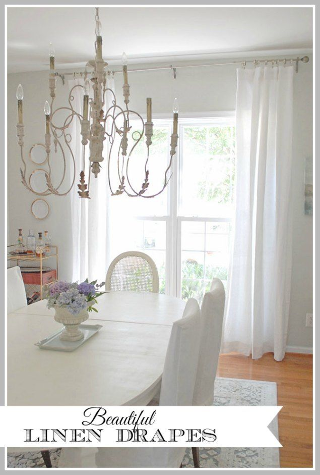 Dining Room Updates Including New Linen Draperies 11 Magnolia