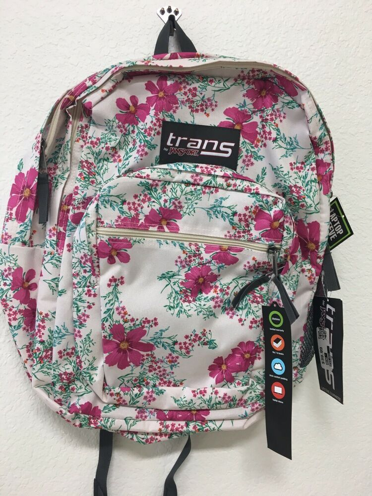 1db6718b1 NWT Trans by Jansport SuperMax Daring Daisy floral backpack 15