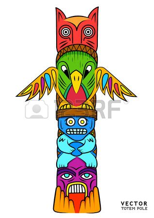 Stock Photo Art Totem Pole Art Totem Pole Craft Tiki Totem