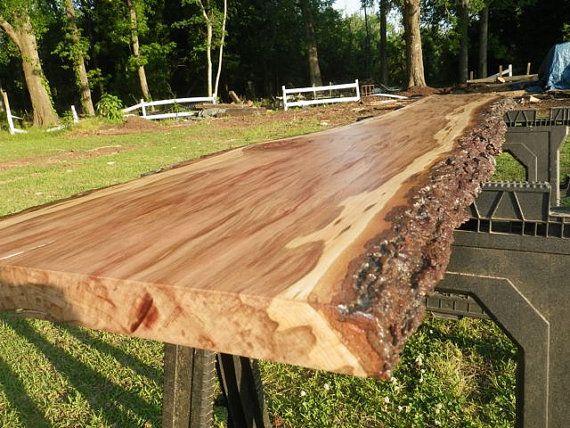 Live Edge Cherry Solid Hardwood Wood Slab by HurricaneMilling