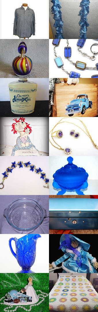 Tuesday Blues with TeamVintgeUSA by Jennifer McWilliams on Etsy--Pinned with TreasuryPin.com