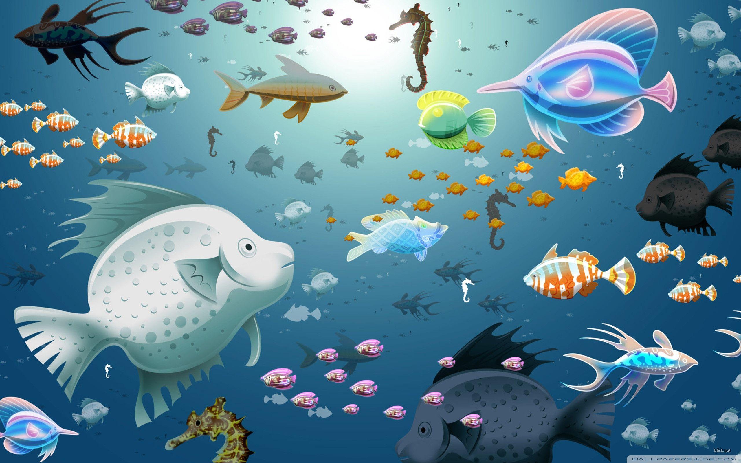 Aquarium Fish HD desktop wallpaper Widescreen High Definition