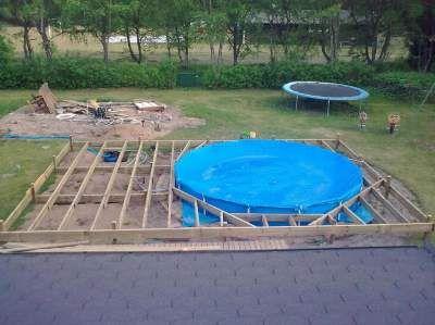 billig inbyggd pool s k p google pool pinterest