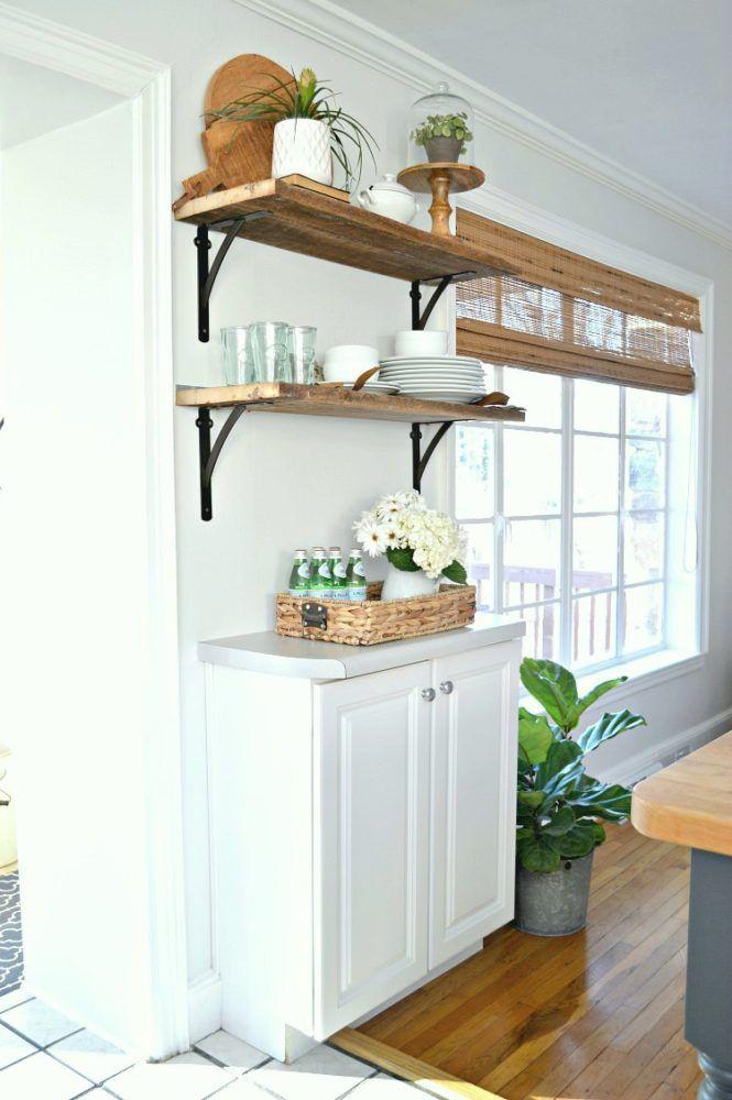 Painted black window trim in the kitchen diy farmhouse interior www chatfieldcourt