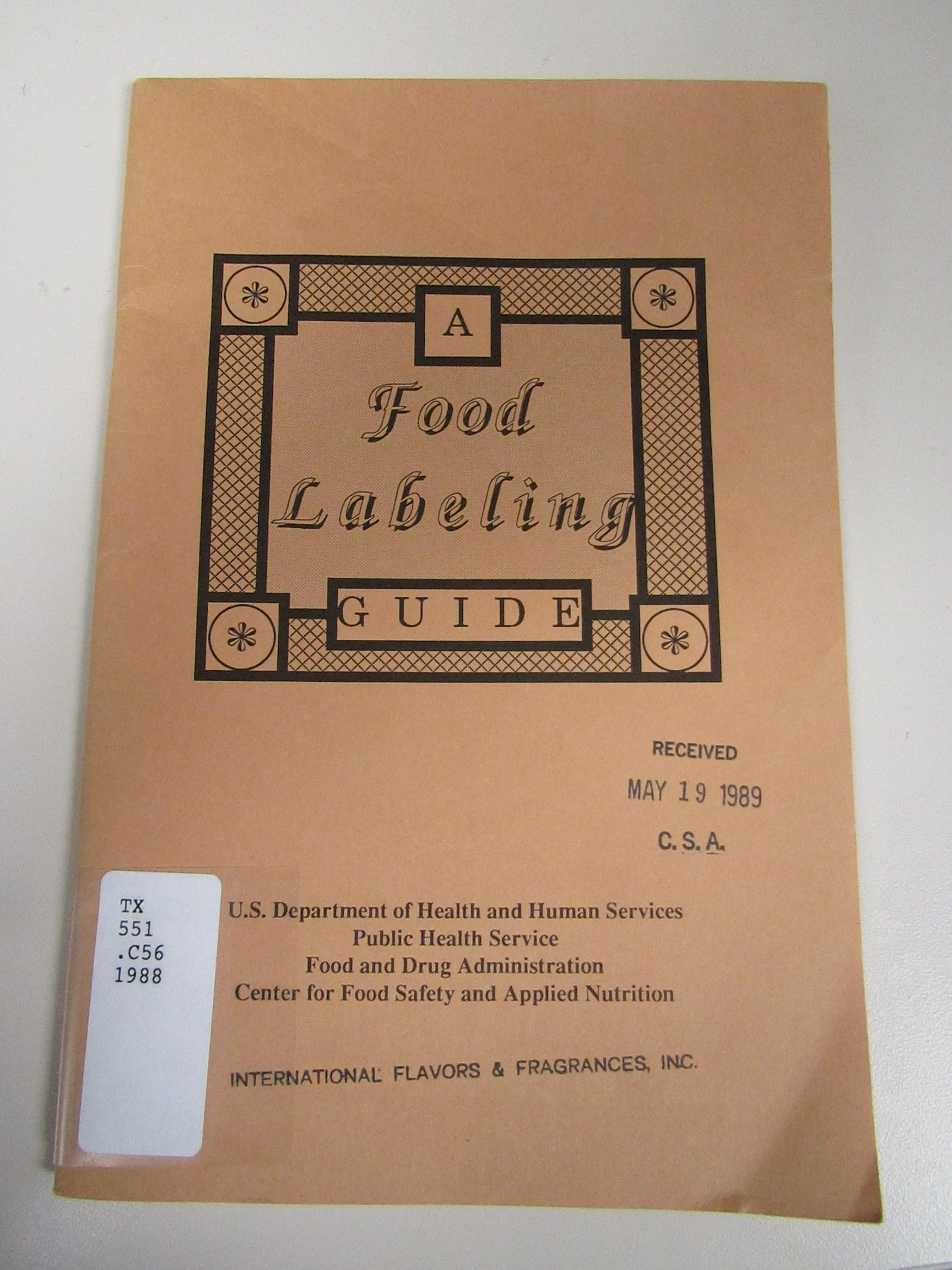 A Food Labeling Guide (1988) by the U.S. Department of