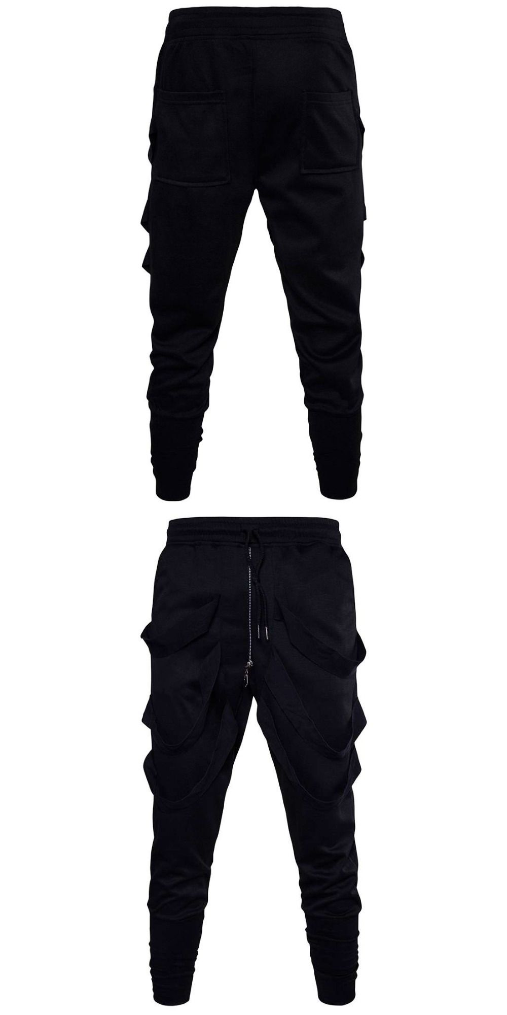 db26a46f985  1621 Hip hop pants men Black Harem track pants With ribbons Fashion Spring  trousers 2018 Joggers Sweatpants Pantalon hombre 3XL
