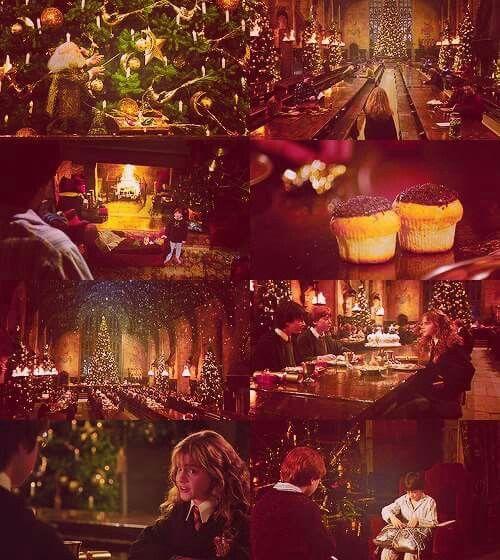 Christmas at Hogwarts   Hogwarts christmas, Harry potter ...