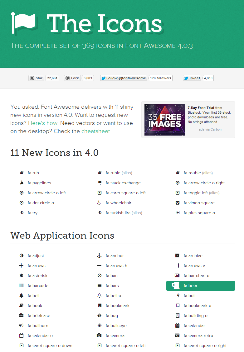 Font Awesome Icons Website Fonts Free Icon Set Stock Icon