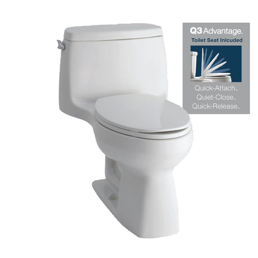 KOHLER Santa Rosa White 1.28-GPF 12-In Rough-In WaterSense Elongated ...
